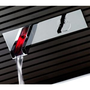Baterie chiuveta Built-in Joystick tap Led waterfall Rettangolo Gessi
