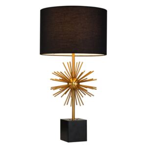 Veioza cu marmura neagra Rocket Table Lamp