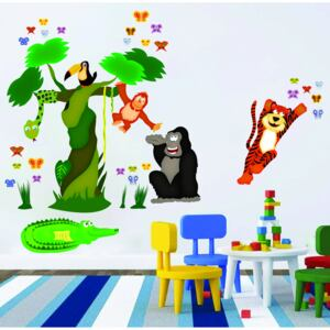 Sticker decorare camere copii - In jungla