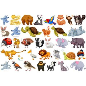 Sticker Animale Diverse - 60x90 cm