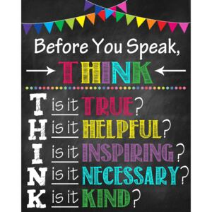 Stickere Decorative pentru Clasa - Before you speak, think