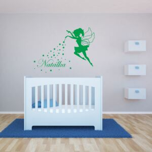 GLIX Magic Fairy - autocolant de perete Verde deschis 50 x 40 cm