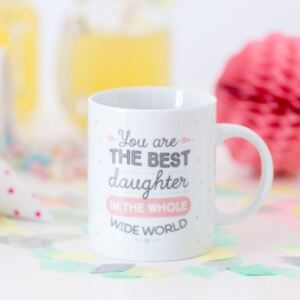 Cană din ceramică Mr. Wonderful You are the best daughter, 350 ml