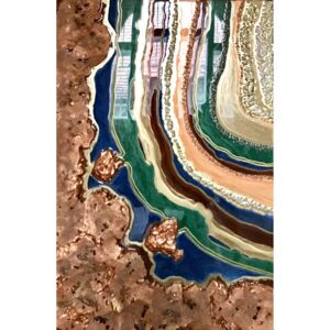 Tablou Earth Geode 70x102 cm Luxury Resin Collection | ARTIGIANA STUDIO