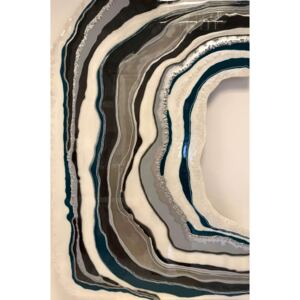 Tablou Grey Lines Geode 70x102 cm Luxury Resin Collection | ARTIGIANA STUDIO