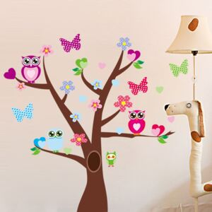 Autocolant Tree and Butterflies on Tree
