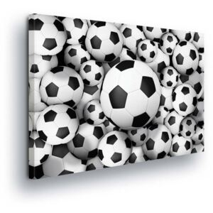 GLIX Tablou - Pattern with Soccer Ball 2 x 40x60 / 2 x 30x80 / 1 x 30x100 cm