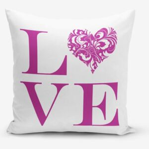 Față de pernă Minimalist Cushion Covers Love Purple, 45 x 45 cm