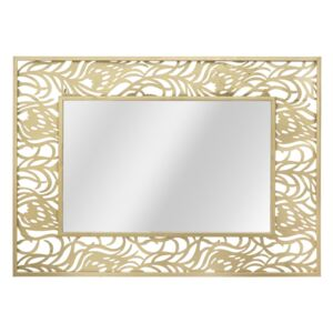 Oglinda decorativa din metal Carving Glam Auriu, L76,5xl106,5 cm