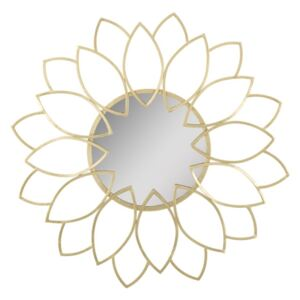 Oglinda decorativa din metal Sunflower Auriu, Ø80 cm