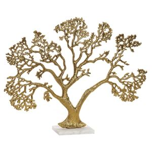 Statueta Golden Tree din metal auriu 46 cm