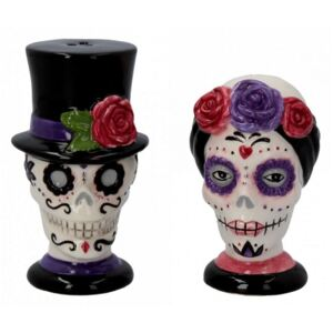 Set solnita si pipernita sugar skull Parada 8 cm