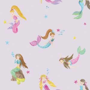 Arthouse Tapet - Mermaid World Mermaid World Lilac