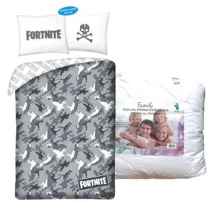 Set lenjerie de pat Fortnite (gri)