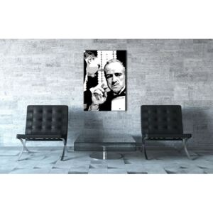 Tablou pictat manual POP Art GODFATHER 1-piese 70x100cm