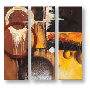 Tablouri pictate manual pe canvas DeLUXE ABSTRACT 3 piese 031D3 ()