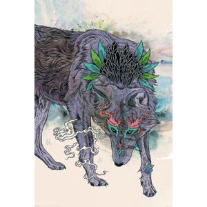 Mat Miller - Journeying Spirit - Wolf Poster, ( x cm)