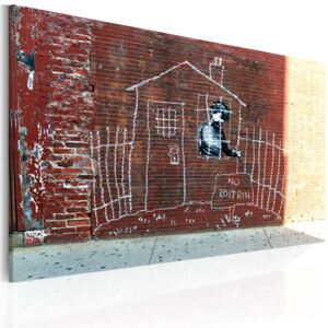Tablou Bimago - Grounded (Banksy) 60x40 cm