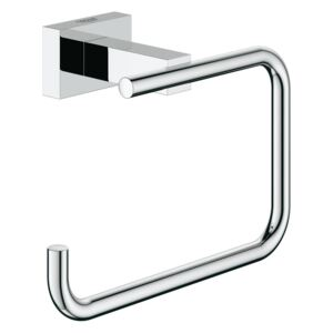 Suport hartie igienica Grohe Essentials Cube, fixare ascunsa, Crom