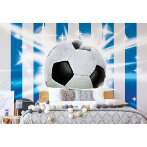 GLIX Fototapet - Football Blue And White Stripes + adeziv GRATUIT Tapet nețesute - 416x254 cm