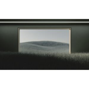 Dark room in the middle of green cereal field series 1, (40 x 22.5 cm)