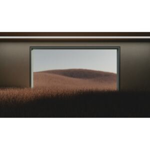 Dark room in the middle of brown cereal field series 1, (40 x 22.5 cm)