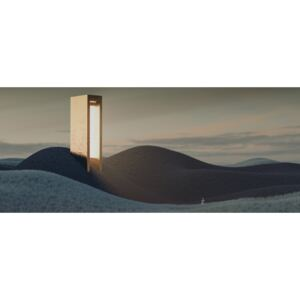 Landscape with a tower emiting light series 6, (50 x 20.9 cm)