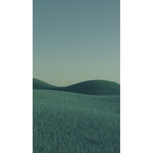 Minimal landscpases of a green grass at with a gradient sky series 1, (22.5 x 40 cm)