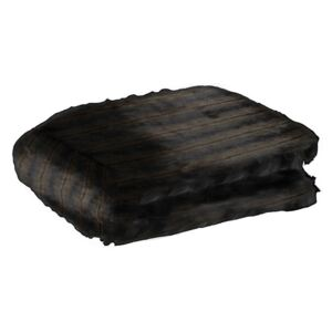 Pled maro/negru din fibre acrilice si poliester 140x180 cm Panther Fur LifeStyle Home Collection