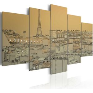 Tablou Bimago - Good old Paris (Vintage) 100x50 cm