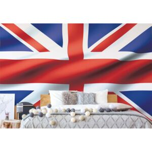 Fototapet GLIX - 3D Flag Great Britain Uk Union Jack + adeziv GRATUIT Tapet nețesute - 416x254 cm
