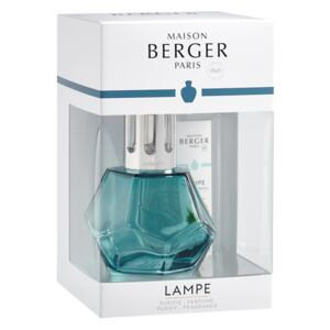 Set Berger lampa catalitica Geometry Blue cu parfum Vent d'Ocean