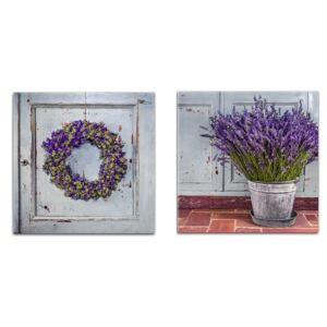 Styler Tablou pe sticlă - Blue Door Blue Door set - 2x 30x30 cm