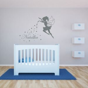GLIX Magic Fairy - autocolant de perete Gri 90 x 70 cm