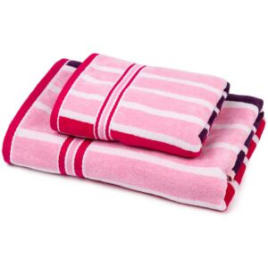 Set prosoape Stripes Sweet, 70 x 140 cm, 50 x 90 cm