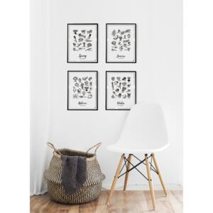 Poster Follygraph 4 Seasons Set, 21 x 30 cm