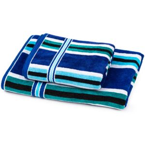 Set prosoape Stripes Ocean, 70 x 140 cm, 50 x 90 cm