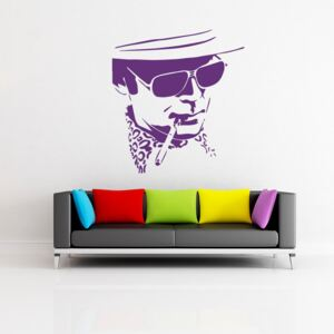 GLIX Hunter S. Thompson - autocolant de perete Mov 50 x 55 cm