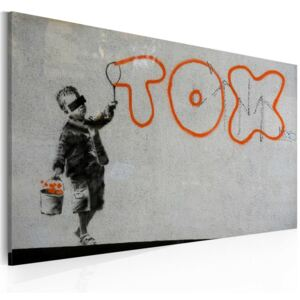 Tablou Bimago - Wallpaper graffiti (Banksy) 60x40 cm