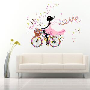 Sticker perete Love is like Riding a Bicycle