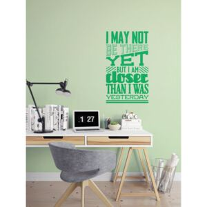 GLIX Motivation - autocolant de perete Verde deschis 50 x 85 cm