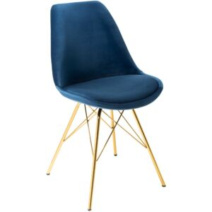 Scaun Invicta Interior Scandinavia Retro Dark Blue