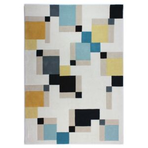 Covor Flair Rugs Illusion Abstract Blocks, 80 x 150 cm, albastru