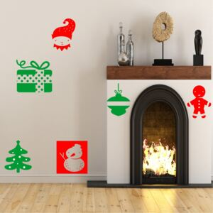 Sticker decorativ Set Decoratiuni Craciun