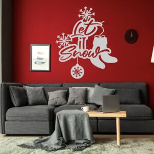 Sticker decorativ Let It Snow