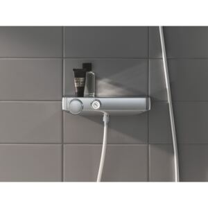 Baterie de dus cu termostat Grohe Grohtherm SmartControl, butoane push, CoolTouch, EasyTray, crom -34719000