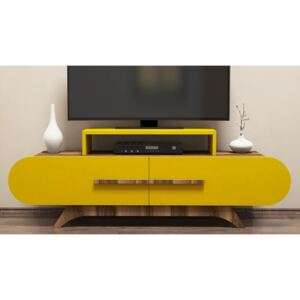 Comoda TV din PAL melaminat Attica Yellow/Maro