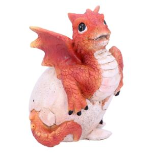 Statueta dragonel in ou Ruby Hatchling 11 cm