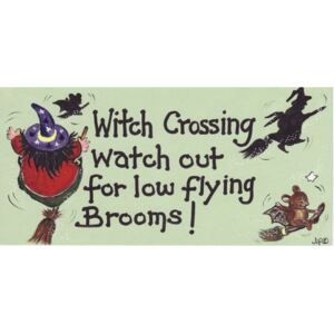 Placuta decorativa Witch Crossing, Look Out