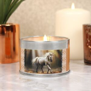 Lumanare parfumata, design Anne Stokes - Glimpse of a Unicorn - santal